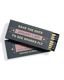 Save the Date to See Sparks Fly matchbox clip art courtesy of MarthaStewart.com.