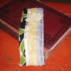 Selvage fabric bookmark.