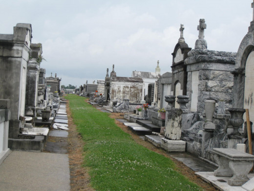 A row of mausoleums at Greenwood Cemetery. We visited four cemeteries in all and if we'd had more time, would have gone to more.