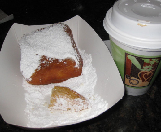 Beignets for breakfast. Delicious!