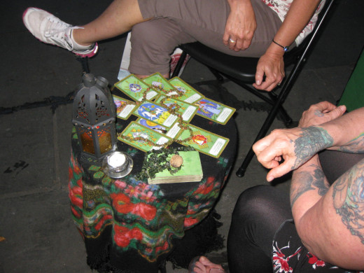Tarot card reading in the Big Easy.