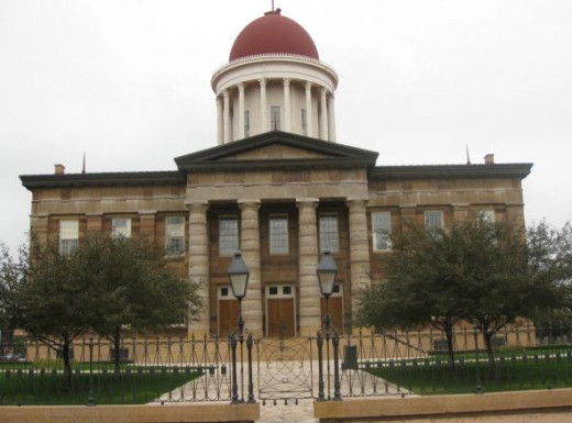 Old State Capitol building in Springfield, Illinois.