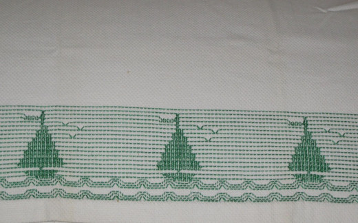 Huck towel with embroidery
