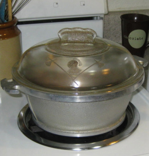 Guardian Service cookware that I inherited from Aunt Mary. This would hold a whole mess of sweet corn!