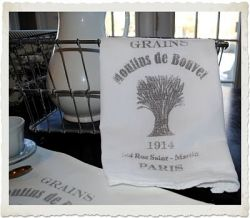 "Make your own ""vintage"" tea towel like this one from The Graphics Fairy."