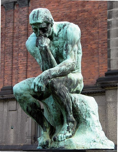 The Thinker by Rodin.