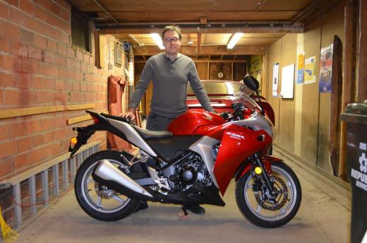 My new 2012 Honda CBR250R.