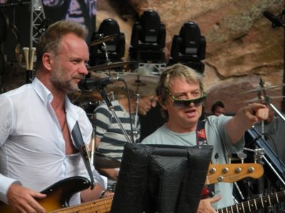 Sting, Andy Summers and Stewart Copeland at Red Rocks, July 2008