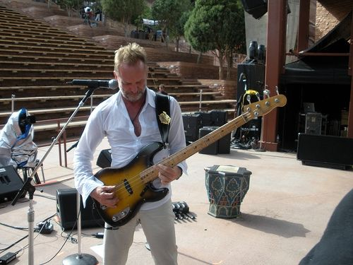 Sting at a Police soundcheck in 2008