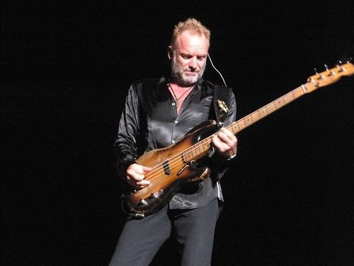 Sting on stage in 2008