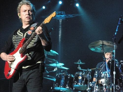 Andy Summers and Stewart Copeland on stage