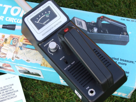 The Micronta 4001, my first Metal Detector.
