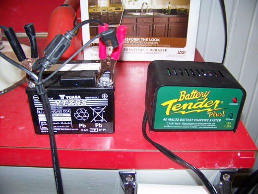 I keep my Grom battery in our nice warm basement over the winter. I recharge the battery on a weekly basis using my Battery Tender.