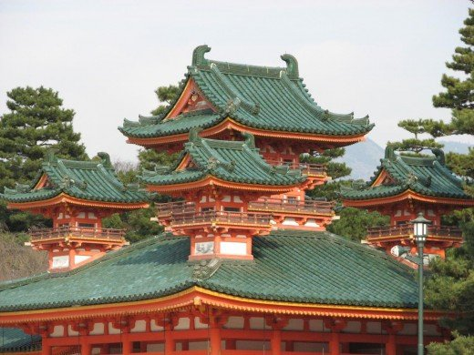 Heian Shrine in the middle of Kyoto in winter. If you can, visit on Coming of Age day to see crowds in fabulous kimonos!