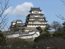 Himeji Castle in winter - the tour was very cold. Unfortunately, it is covered for restoration for the next few years.