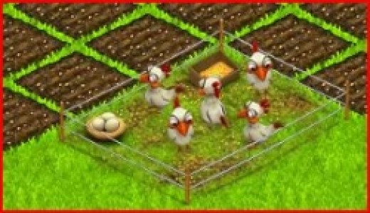 Making Eggs in Country Life Facebook Game