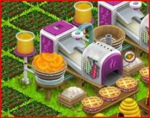 Making Pie in Country Life Facebook Game