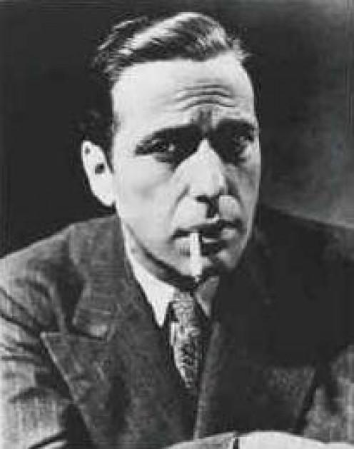 Humphrey Bogart, who played Sam Spade, a shamus.