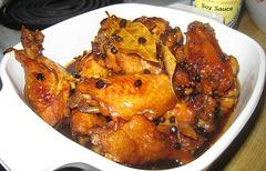 Savory Chicken Adobo. (Photo courtesy by Joelio from Flickr)