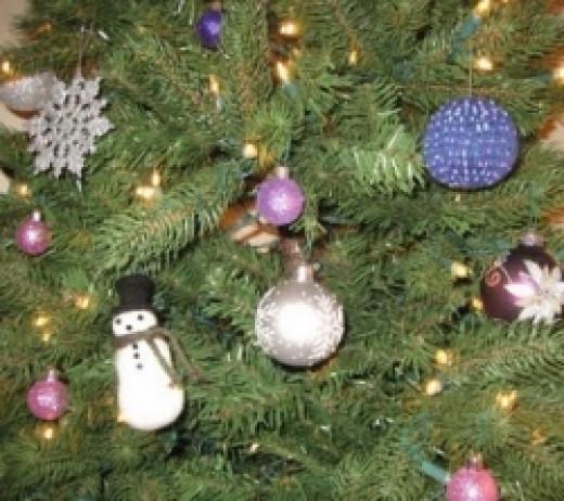 Knit Beaded Christmas Ornament