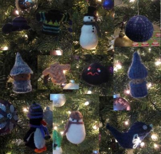 The Knit Ornaments on my Tree