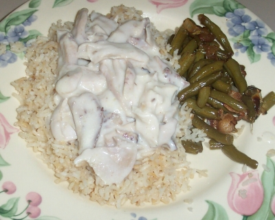 Cream of Mushroom Recipes: Chicken over Rice