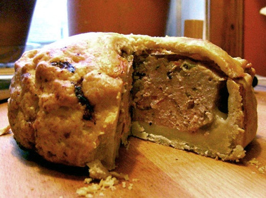 A Home-Made Pork Pie - quite unusual because most people buy them ready made.