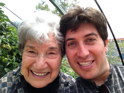 My grandmother and I at the butterfly pavilion, at the Los Angeles Museum of Natural History, 2010