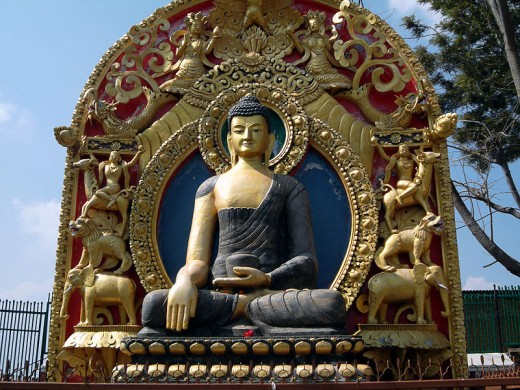 Gautam Buddha Statue at  statue at Namobuddha, Nepal.