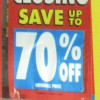 How Much is Seventy Percent Off?  (How to calculate percentages in your head.)