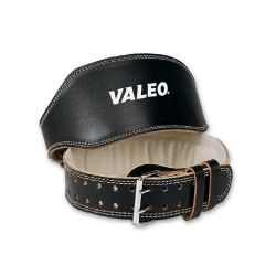 Valeo VRL 6-Inch Padded Weightlifting Leather Belt