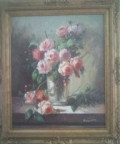roses in a painting