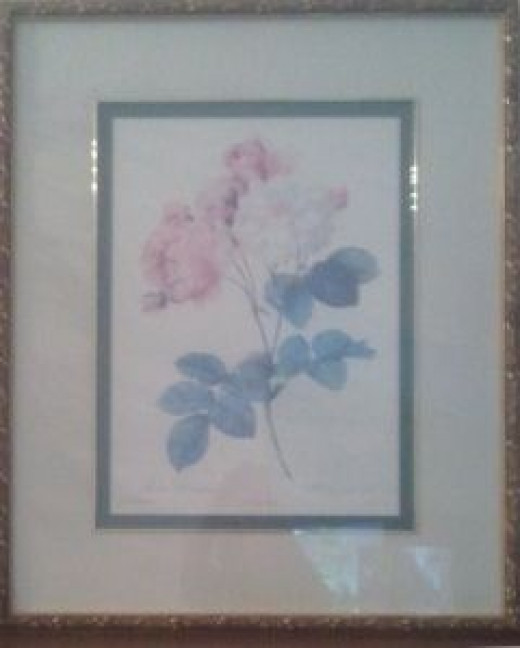 A Pretty Print of Roses