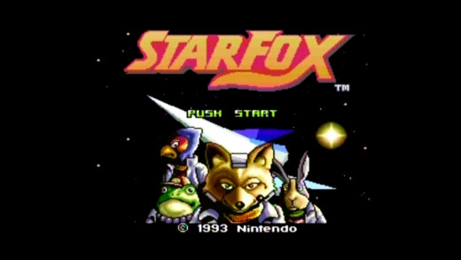 Star Fox's title screen.