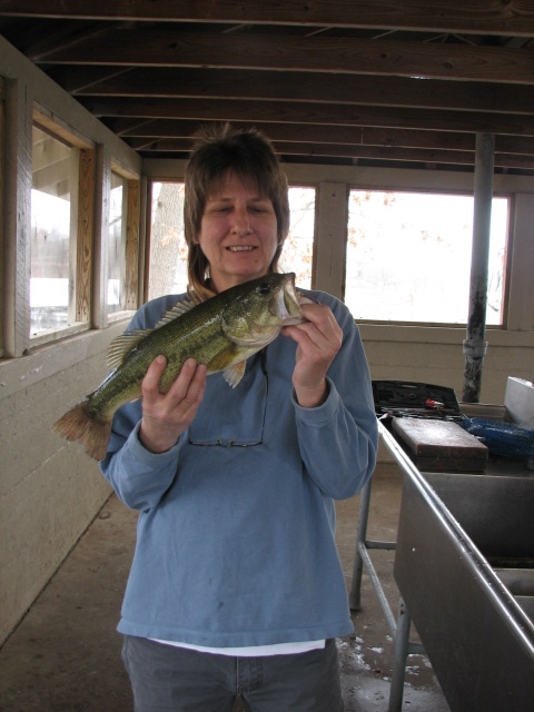 we hoped to bag some Crappie but the cold front had moved in and driven them to deeper water, fishing from shore we settled on Kentucky Lake's Largemouth Bass, not that I was complaining