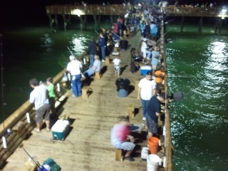 Fishing Pier at Galveston, Texas