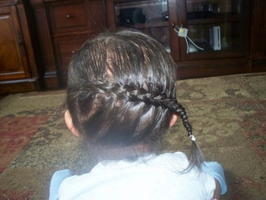 French Braided Side Ponytail