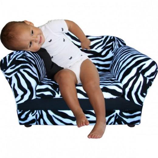 Toddler Zebra Print Chair