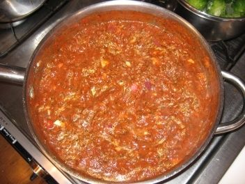 Peter's Spaghetti Bolognese is Cooking