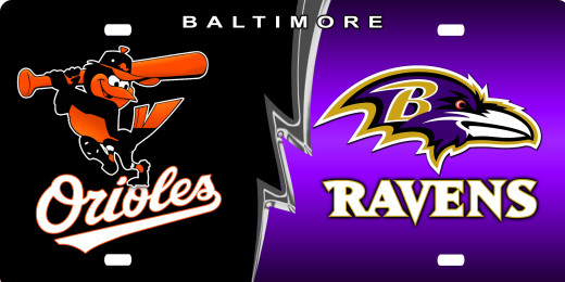 Baltimore Orioles and Ravens, Birdland, Maryland.