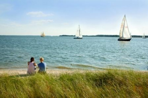 Sailing on the Chesapeake Bay, Eatern Shore, Maryland.