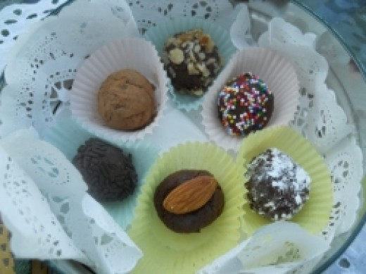 Dark Chocolate Ersatz Truffles