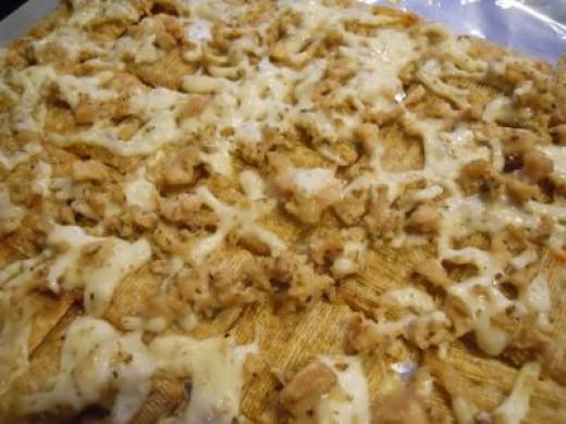 Clams Oreganato Crackers