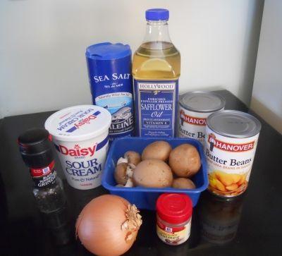 Bean Stroganoff Ingredients