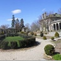 Mansion and gardens at Harkness Memorial Park