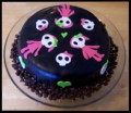 How to Make a Cute and Girly Skull Cake