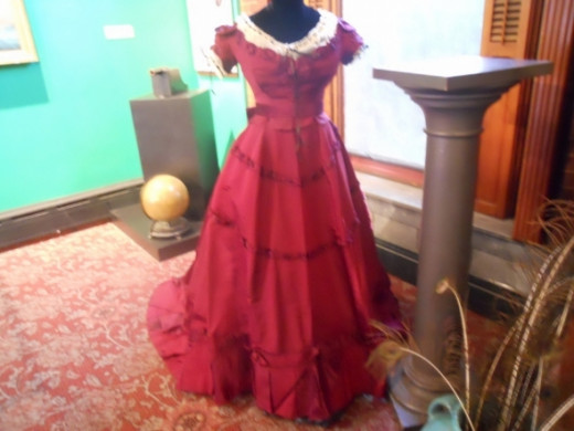 One of Mrs. Slater's ball gowns from the trip.
