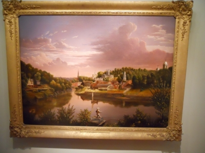 A View of Norwich Harbor by Charles Denison Crocker