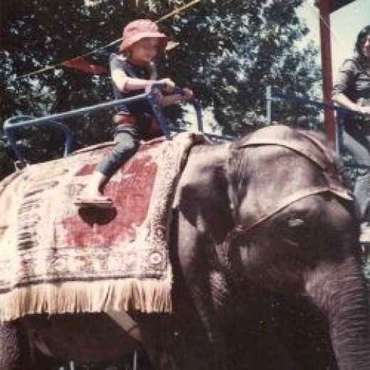 Me riding Judy the elephant