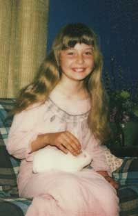 Me and my guinea pig, Snowball